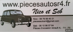 pieces d'occasions Renault 4L F4 F6 (Nicos)
